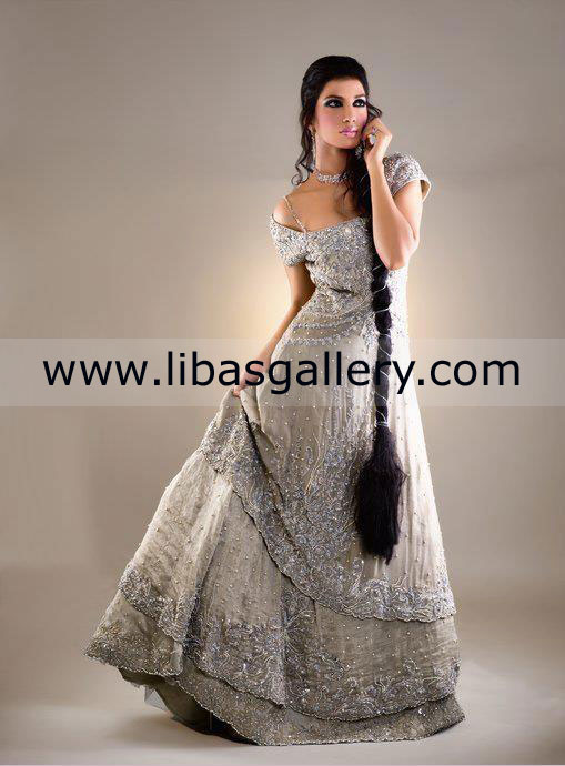 Latest Trend Of Asian Wedding Evening Dresses 2013 Collection
