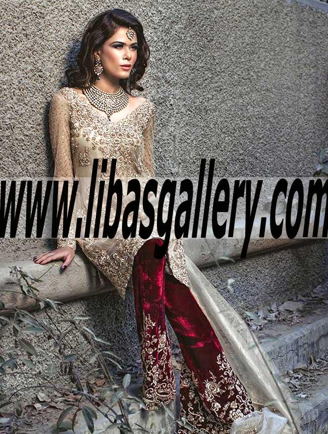 Mina Hasan 2016 Special Occasions Pakistani Wedding Dresses Bridal Formal Dresses Libasgallery Com,Autumn Wedding Fall Wedding Guest Dresses